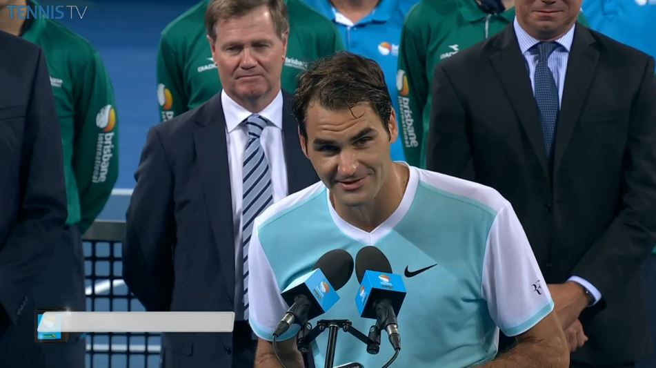 """""""We love you Roger!"""" say the fans. """"Love you too,"""" he says back. https://t.co/rmjCBGeEpS"""