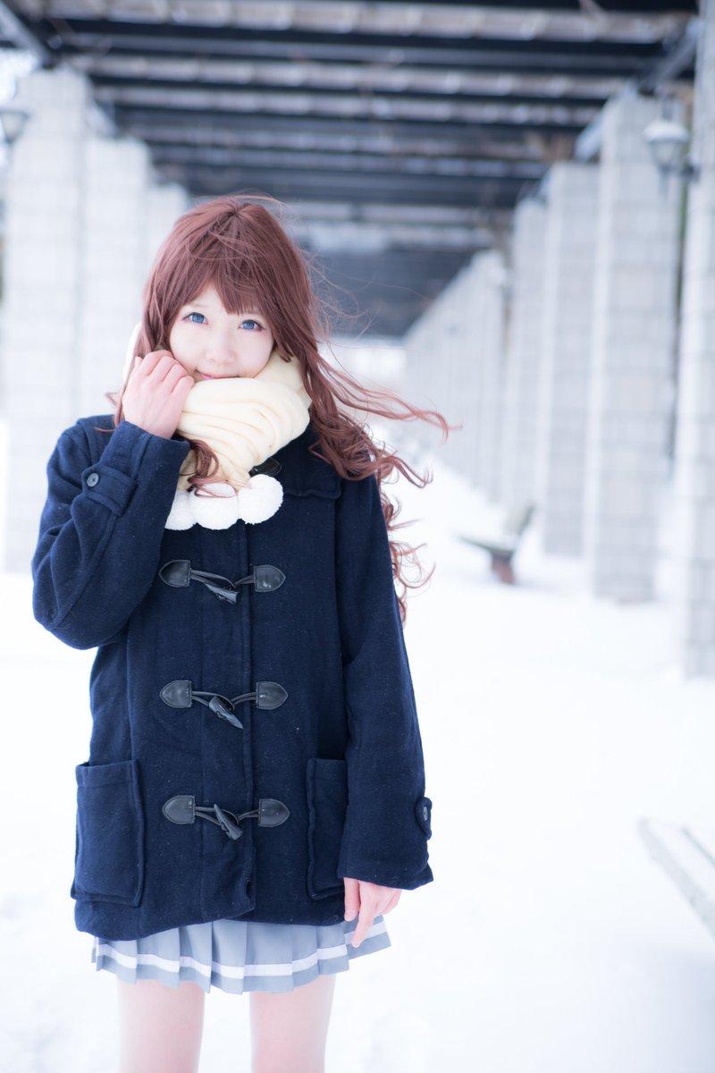 【現像なう】速報!つーちゃんと雪ロケ行って来ました。めっちゃ寒くてやばかったwまたリベンジしたい!【愛ちゃん(境界の彼方):つーちゃん】 https://t.co/pEgWiJKn9C