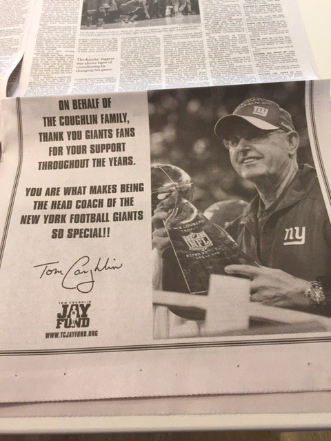 And the @nytimes ... #TC thank you to #Giants fans...#tcjayfund https://t.co/2JWj2nWV1z