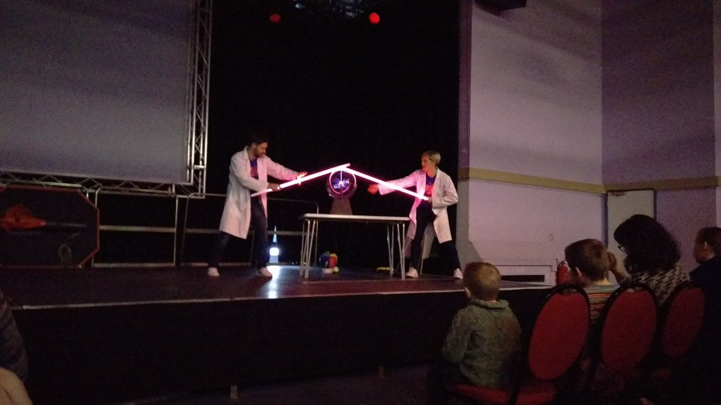 The whole family enjoyed today's @MinistryScience show in #llandudno excellent & inspirational! https://t.co/ls8BtoDSSr