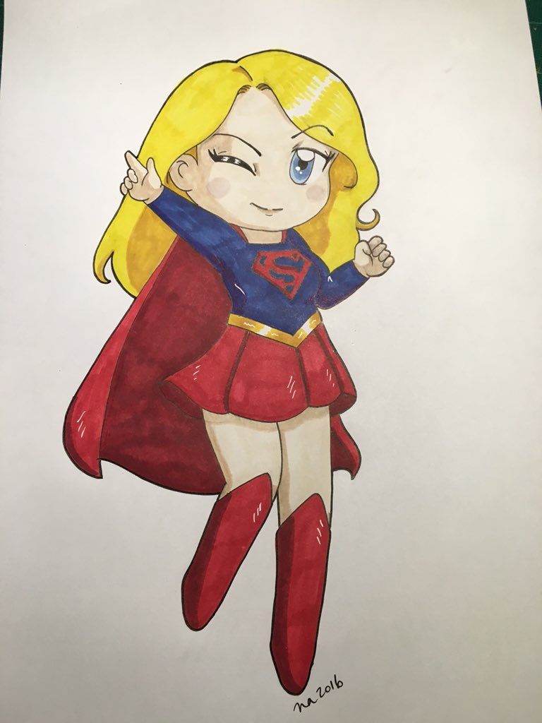 Done! #Supergirl doodle for friends' enjoyment. https://t.co/JjVZ4RqRpG