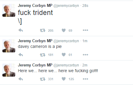 Has Gerry Adams hacked Jeremy Corbyn's Twitter account? https://t.co/2SMKz2qEDh
