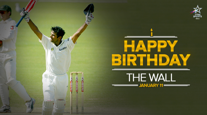 The Wall of Indian cricket turns a year older! Wishing Rahul Dravid a very Happy Birthday!