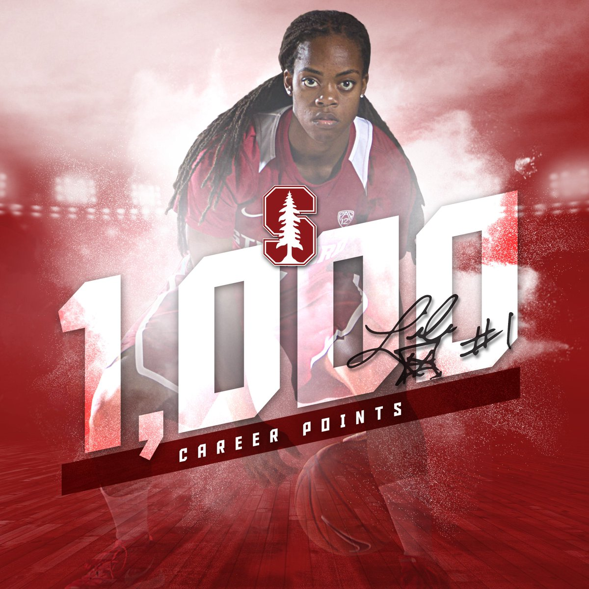 .@Lili_Thompson drains the triple. Points No. 1,000, 1,001 and 1,002. #GoStanford https://t.co/VmgnIN4cic