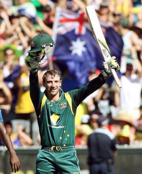Three years ago today at the MCG, Phillip Hughes became the first Australian to score a century on ODI debut. #RIP https://t.co/L66K9iq4Qe