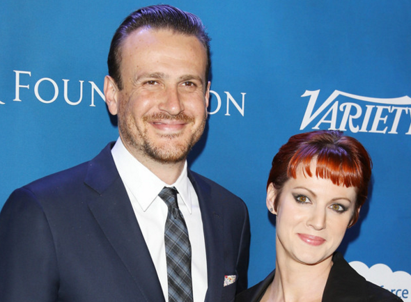 Jason Segel steps out in a rare red carpet appearance with his new rumored girlfriend: