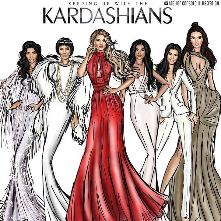 It's a KUWTK night!!! Thank you @atelierconsoloillustration for the fab drawing ❤️ https://t.co/XkP7DQfrmQ
