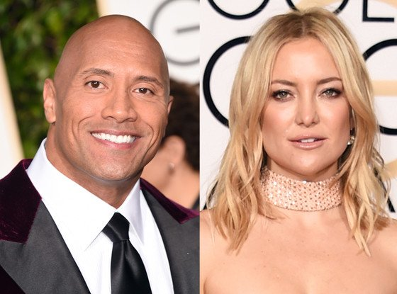 Yeah, Kate Hudson totally crashed Dwayne