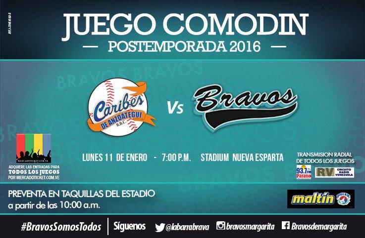 Los #BravosDeMargarita jugarán hoy a las 7:00 de la noche contra los #CaribesDeAnzoátegui en Guatamare. https://t.co/TjDmgiDyQ5