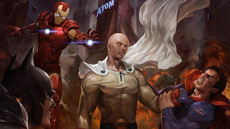 One Punch Man vs Marvel vs DC (art post) https://t.co/Mxeq1KGXyG https://t.co/rV327yUhYr