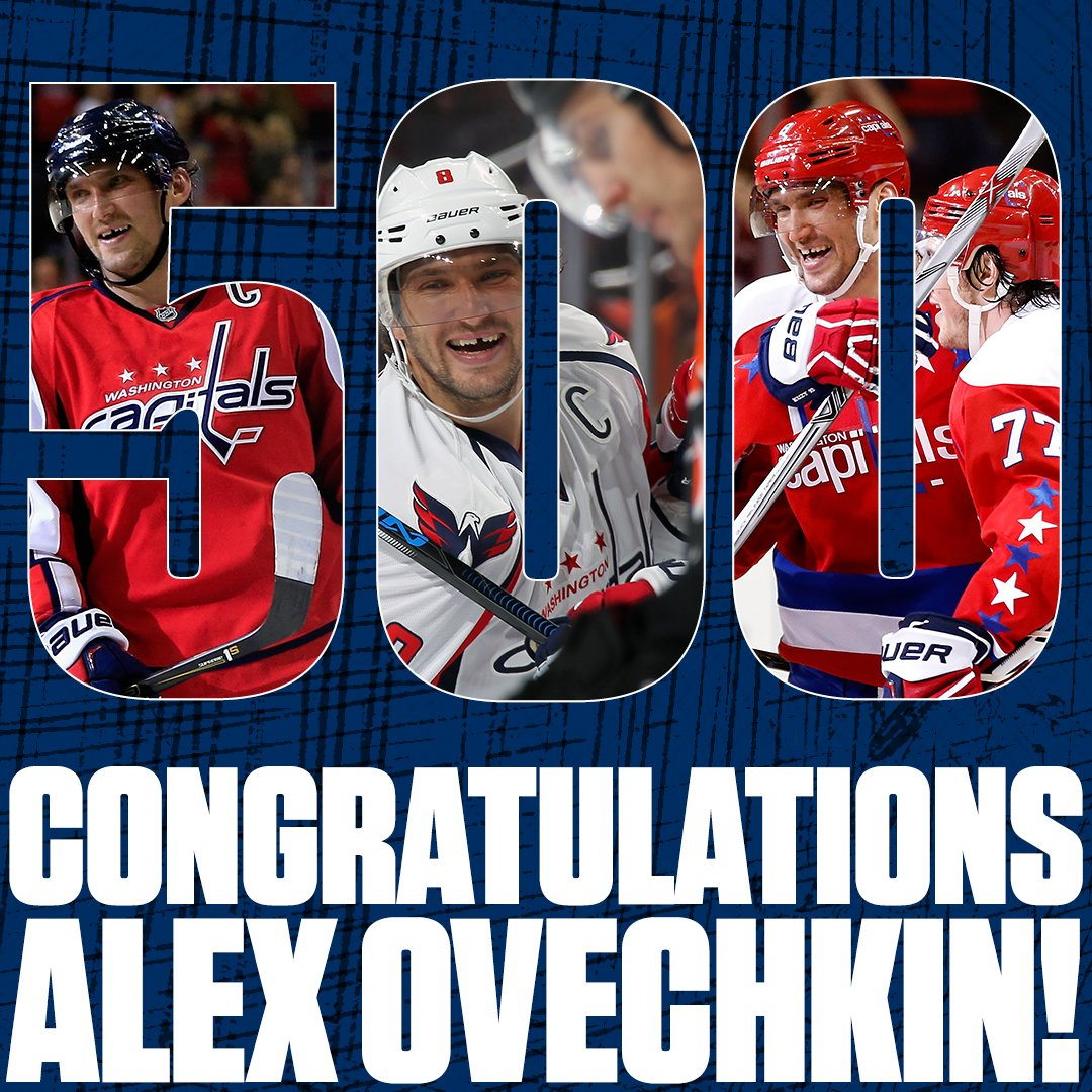 THERE IT IS! @ovi8 joins the 500 @NHL goal club! Congratulations to our Captain! #Ovi500 #RockTheRed #CapsSens https://t.co/kCLOHXnUT8