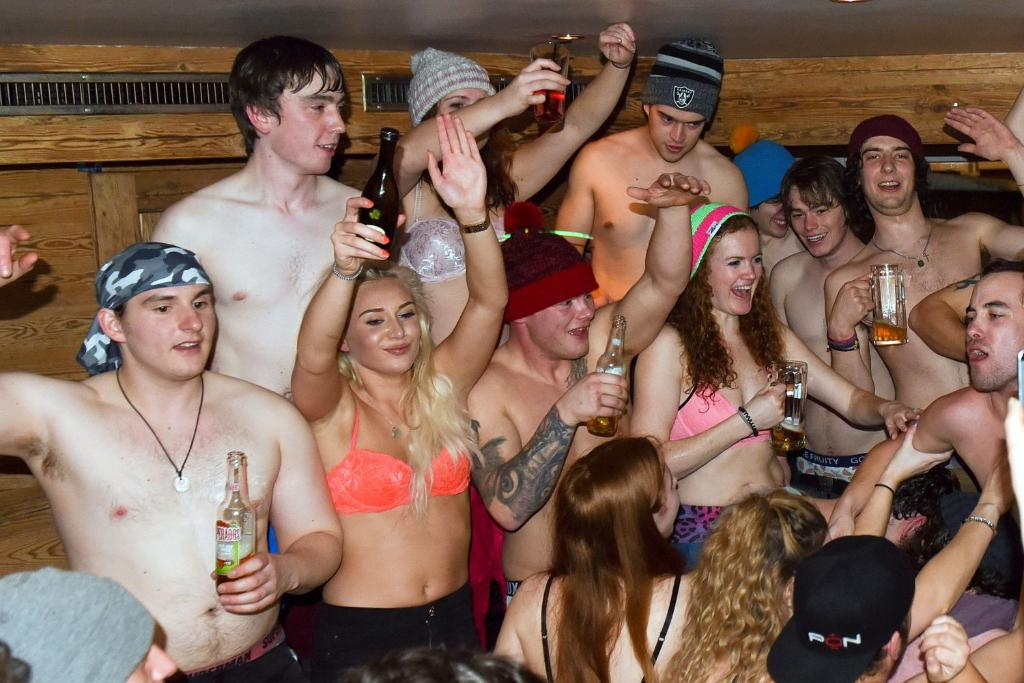 Quickies on the slopes, copping off, and wild hot-tub parties ...