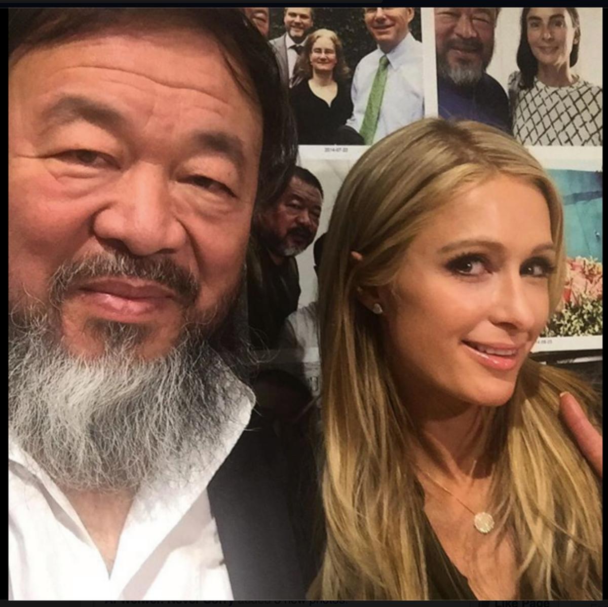 Paris Hilton just posted a selfie with Ai Weiwei. https://t.co/2X4eksPtk9