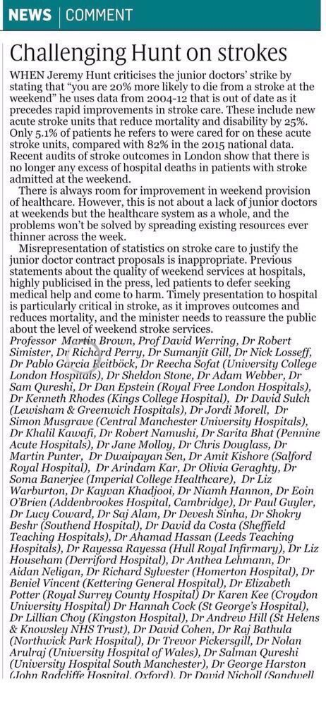 20% more likely to die if admitted with a stroke at weekends? The experts really don't think so #r4today https://t.co/Z0Q41I9i4b
