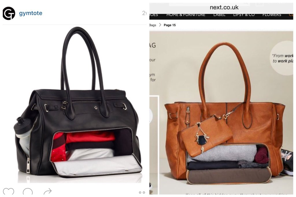 Disgusting how @nextofficial has completely ripped off innovative young brand @GymTote. Pls retweet (@ACID_tweets) https://t.co/uZZyPbOMWs