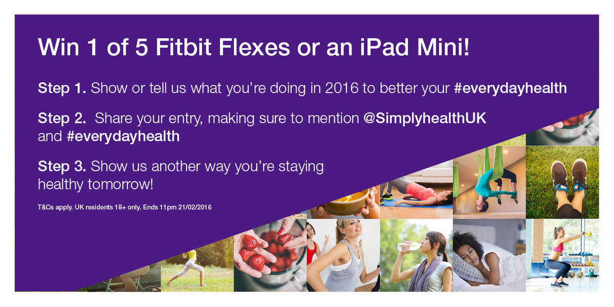 How are you improving your #everydayhealth in 2016? T&C https://t.co/qEfN749X6i UK residents 18+. Ends 21/02/16 #win https://t.co/fMxXMiWXta
