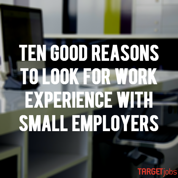 Searching for the perfect #WorkExperience or #Placement? Don't ignore the small employers! https://t.co/14zrFXb2TW https://t.co/y6coUrs2Fm