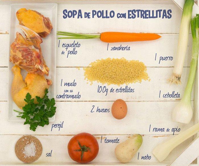 how to make sopa de estrellitas