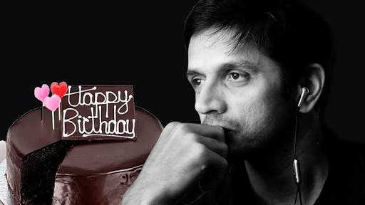 """A Very Happy Birthday and A Spectacular new year to one of the finest batsmen on the earth \""""Rahul Dravid\"""""""