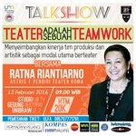 #Malang @TeaterPelangiUM Talkshow Teater Adalah Sebuah Teamwork. 13 Feb 2016. More info >> https://t.co/m5PKeee7oV… https://t.co/OP4j0aeKdX