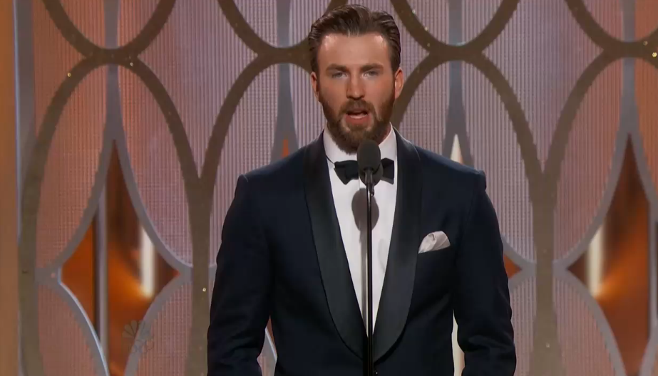 Here comes Captain America then… #GoldenGlobes https://t.co/PvwUExt1R0