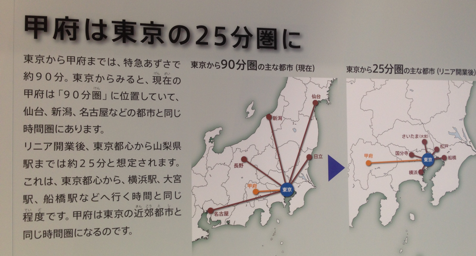「リニア開通で、東京から甲府まで25分!なので甲府は大宮や船橋です」という理論 https://t.co/61susv15W9