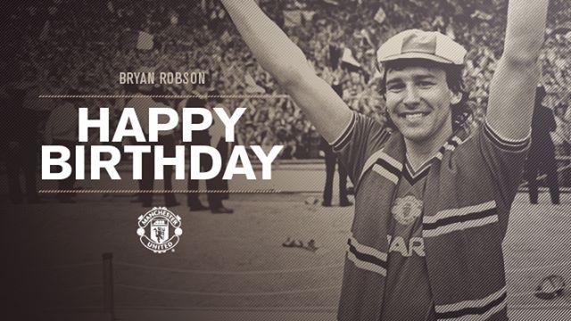 Manchester United Happy birthday to United legend, Bryan Robson!