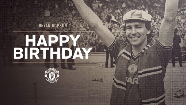 Manchester United Happy birthday to United legend, Bryan Robson!