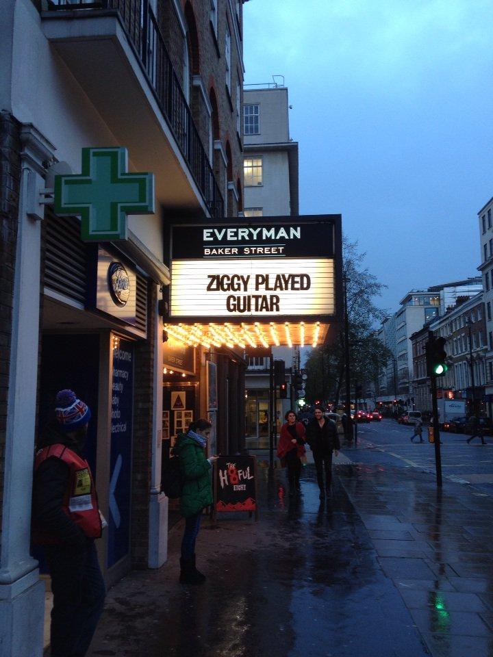 Tribute, Everyman Cinema, Baker Street, London #davidbowie https://t.co/Hz3Ary98OL