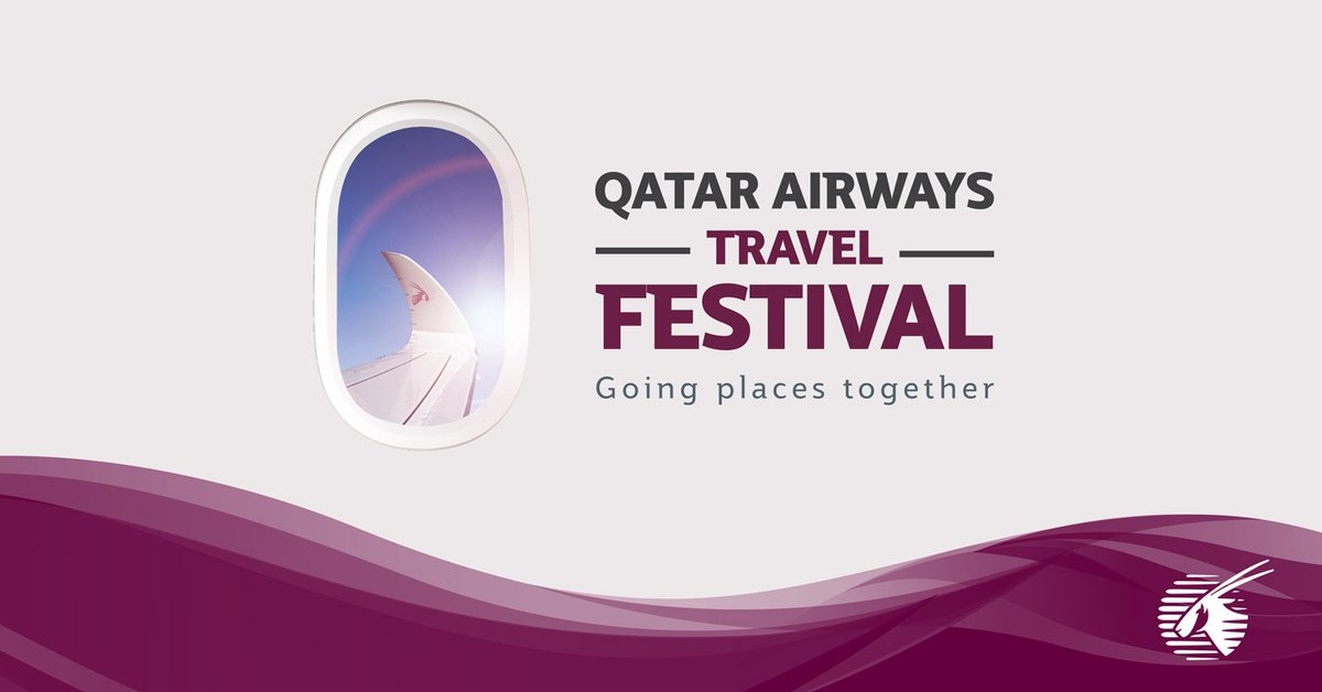 Let us help you plan your next trip with the QatarAirways TravelFestival  Book Now at