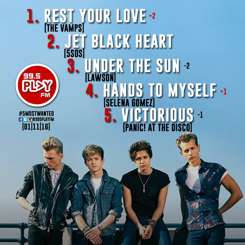 WHOA! @TheVampsband at No.1 again for #5MostWanted - congrats! But how long before @5SOS takes the lead? https://t.co/ZLbtf7ePaH