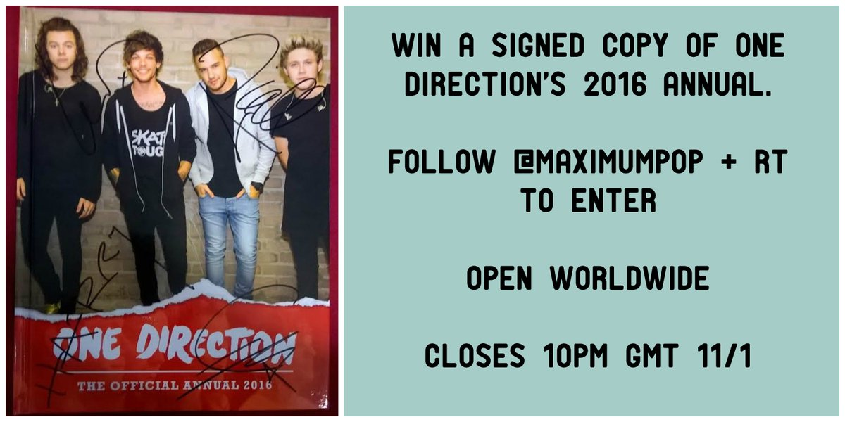 ⚡WIN! A SIGNED copy of @onedirection's 2016 Annual ⚡