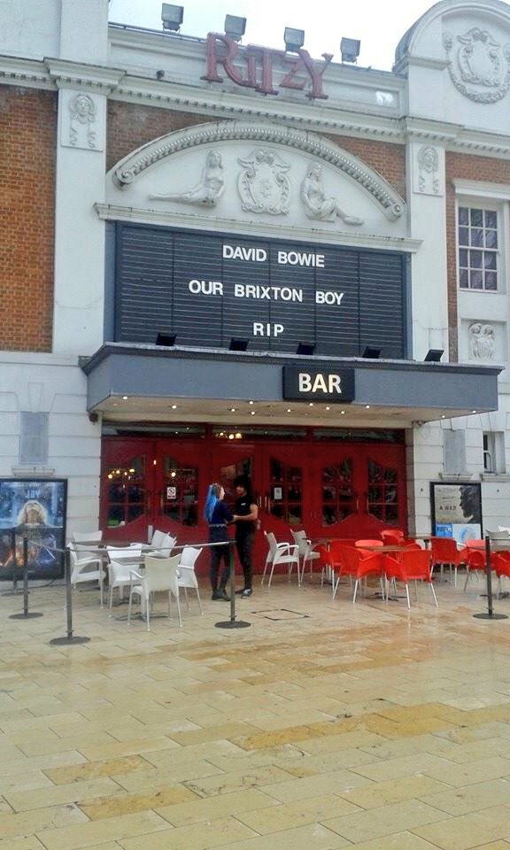 The Ritzy Cinema in Brixton #RIPDavidBowie https://t.co/B1gjwGzKEo