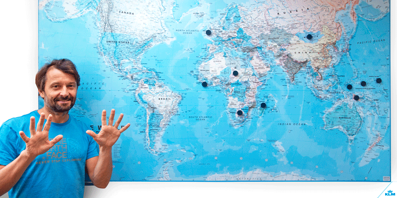 Crew member Boris visited all the countries in the world... well, he almost did.