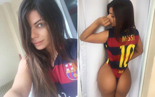 RT @iggente: Miss Bumbum mostra atributos em apoio a Messi: