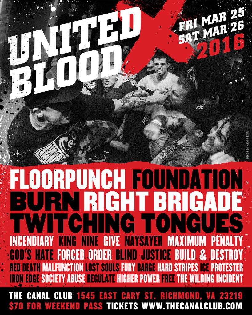 UNITED BLOOD 2016. Tickets: https://t.co/HKJfdRWu0A https://t.co/HkLpGaA8n2