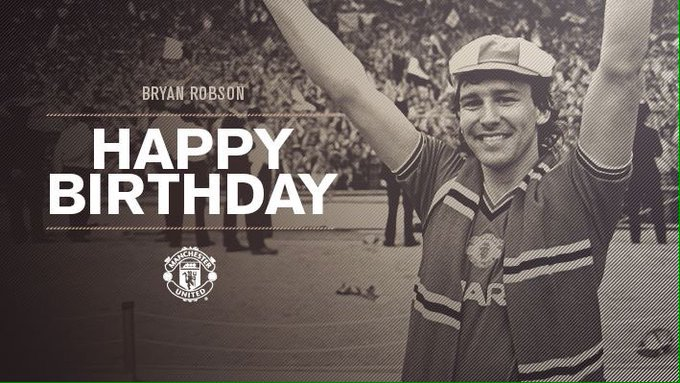 Happy birthday to Manchester United legend Bryan Robson!