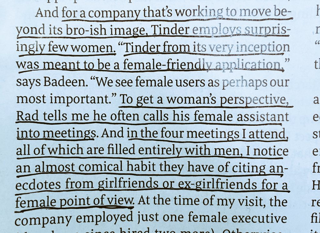 Like most online dating, Tinder is creepy as hell for most women I know. This is probably not a coincidence. https://t.co/eXzjjwyZxT