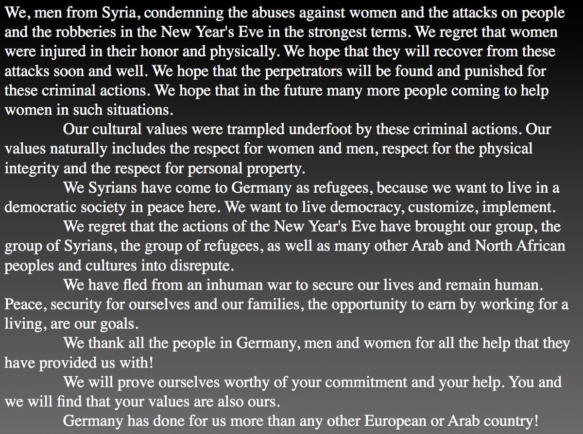 Syrian men handed out this flyer at Köln University: https://t.co/Iv8YwrGoRA Translation by Jennifer Shermer https://t.co/AlyvhTv7TC