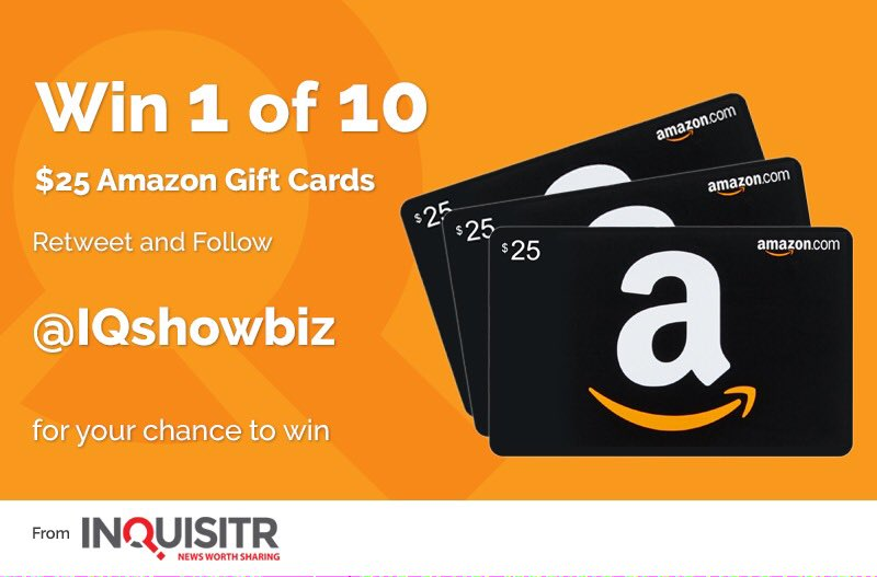 @IQShowbiz: #Win 1 of 10 Amazon Vouchers Worth $25 Simply #Retweet and #Follow To Enter Our  #Competition #Giveaway https://t.co/zsPCkabz8Y