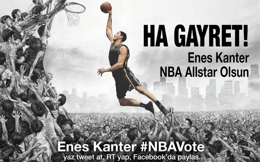 Enes Kanter #NBAVote  @Enes_Kanter   Her RT bir oy! https://t.co/kTMCoFLo5Z