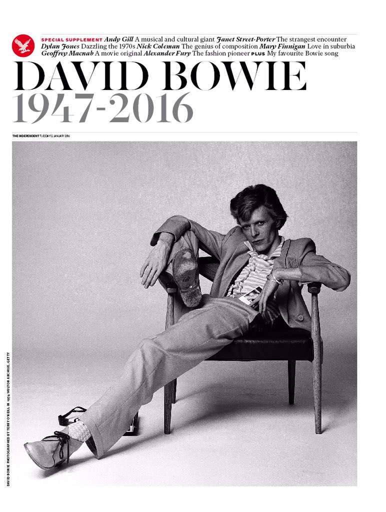 RT @amolrajan: +++ Tomorrow's @Independent has this magnificent 16-page tribute to #DavidBowie, edited by @SimonOHagan +++ https://t.co/6Wb…