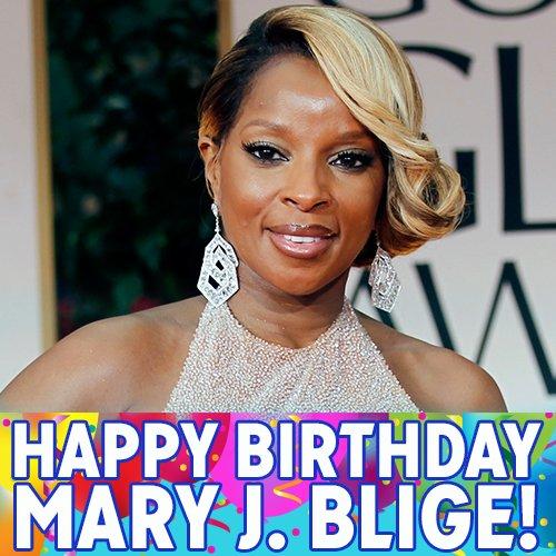 Happy Birthday, Mary J. Blige! The Grammy-winning R&B music icon turns 45 today.