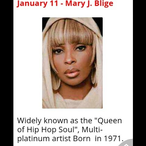 Happy Birthday to Mary J Blige from Norris Brown & the L.T.M. family