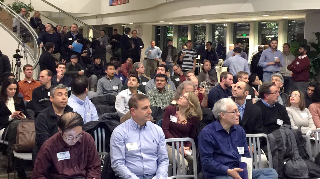Big crowd for tonight's Boston Tech Meetup #BNT61 https://t.co/31v5eKoNtu