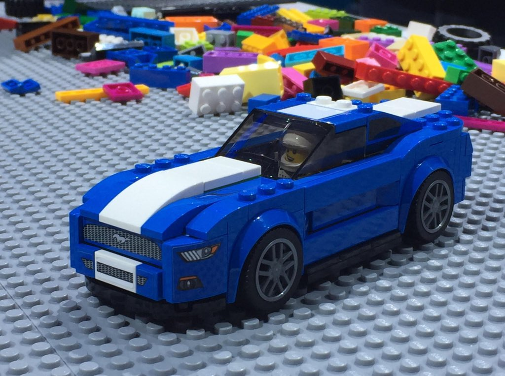 The @Ford Mustang GT & F-150 Raptor @LEGO Speed Champion models ready for u to steal from ur kids on 3/1 #FordNAIAS https://t.co/MdvInmd8MQ