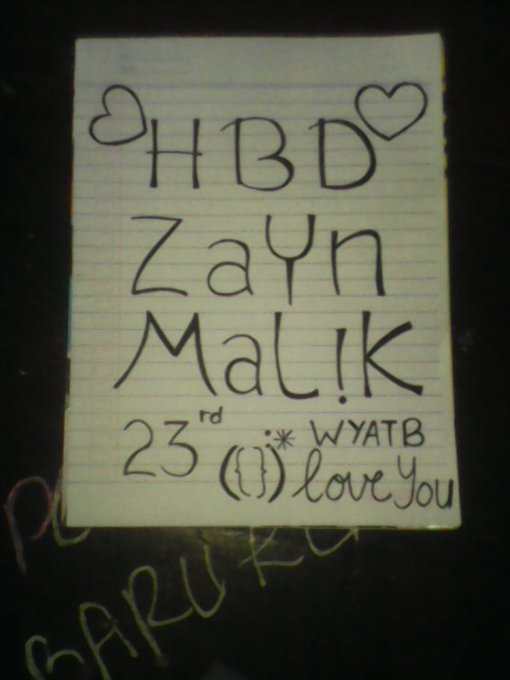 Happy birthday Zayn Malik Wish You All The Best I Love you
