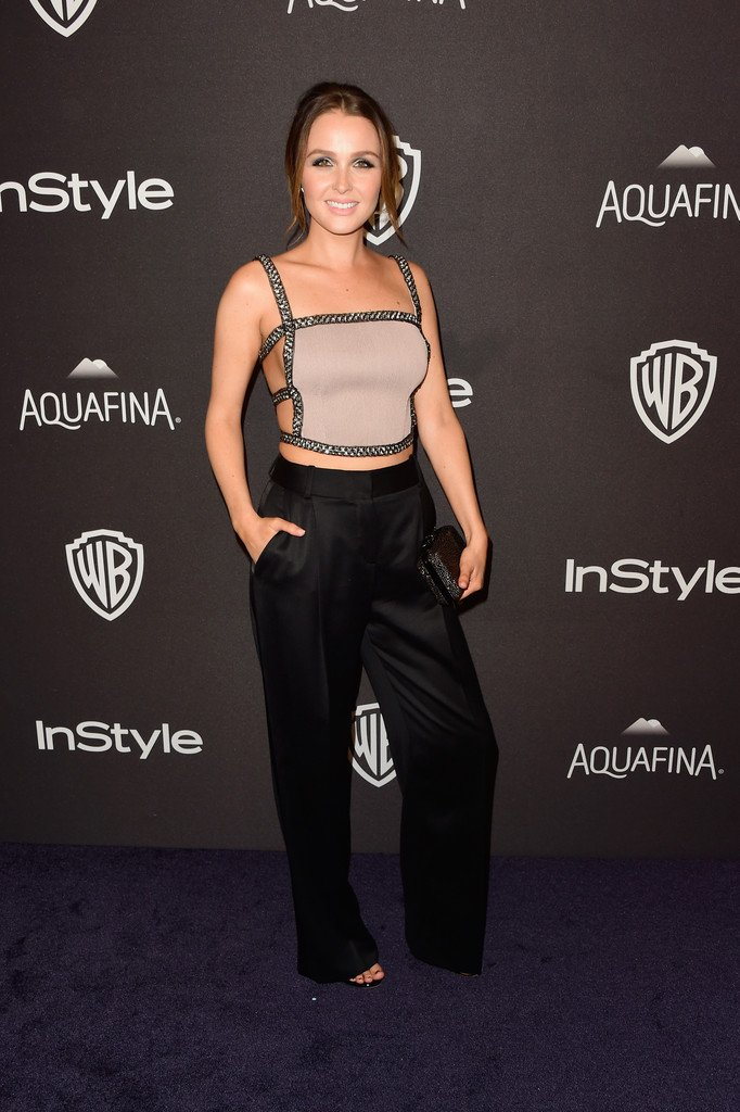 Camilla Luddington Wore An Asos Jumpsuit Top Kls Trousers To The