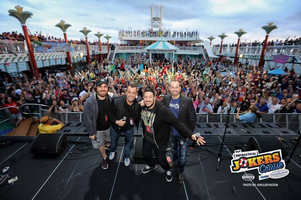 We're off to a great start on the Impractical Jokers Cruise #JokersCruise #SXMliveloud