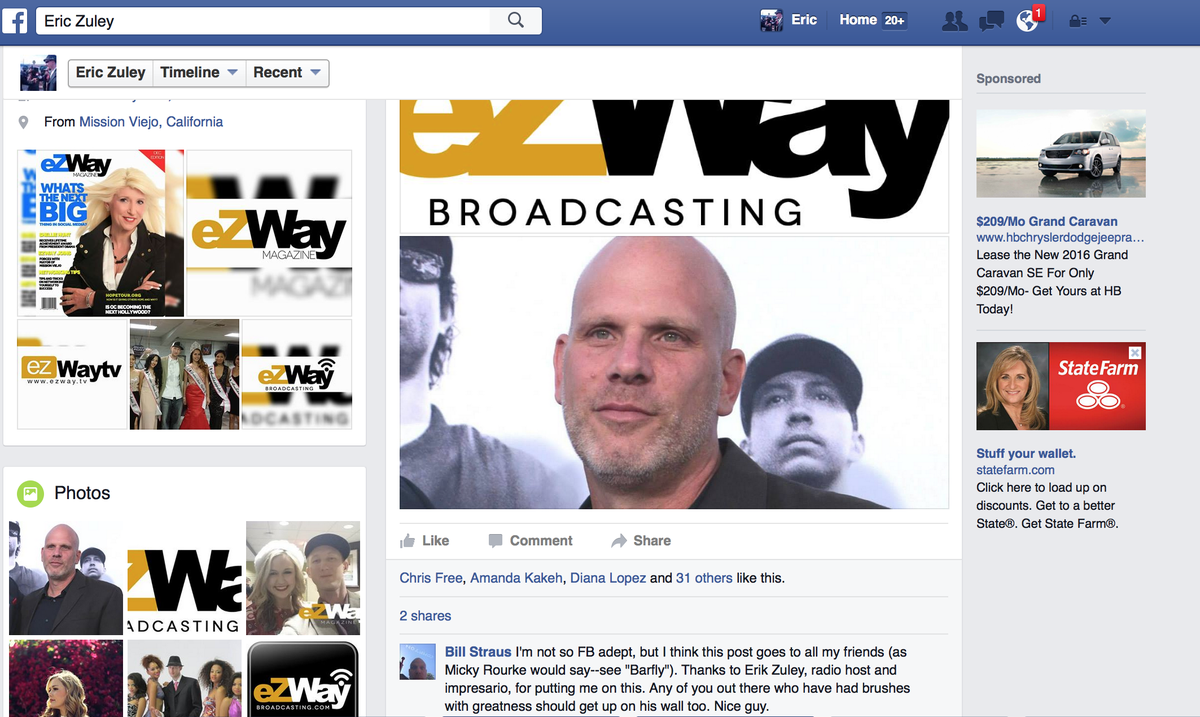 "Comment from the producer of ""Straight Outta Compton"" posted on my FB wall Verified on @ezwaybroadcast  #eZwaywall https://t.co/POkWOin9G8"